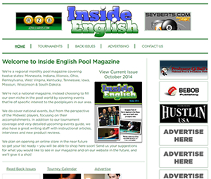 Billiards Digital Magazine Website Design