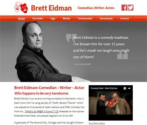 Webpage Redevelopment For Comedian