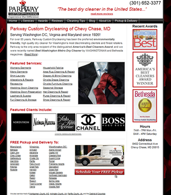 maryland dry cleaning website design