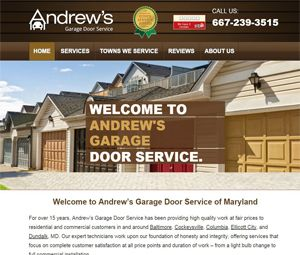 Webpage Design For Maryland Garage Contractor