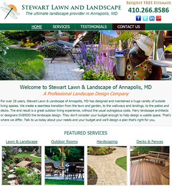 maryland landscaper website