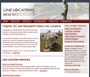 Virginia and Maryland Contractor Website Design