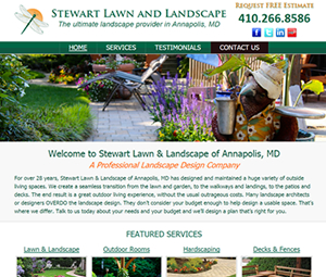 Maryland Landscaper Website Design