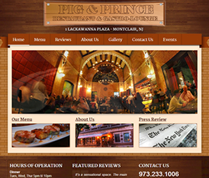 Website Design for Montclair, NJ Restaurant