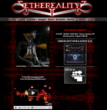 website design for new jersey metal band. Black Bedroom Furniture Sets. Home Design Ideas