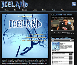 Metal Band Webpage Design