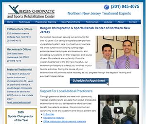 Website Re-Design for NJ Chiropractor