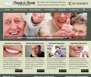 New Northern Virginia Dentist Office Website Design