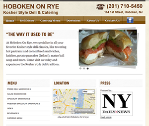New Hoboken Restaurant Site Design