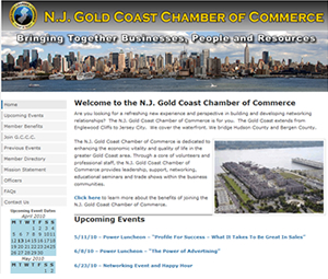 Website design for a New Jersey chamber of commerce