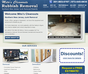 New Jersey Website Design for Cleaning Company