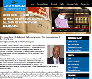 New Virginia Lawyer Website Design
