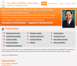 New Jersey Lawyer Website Redesign