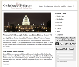 Virginia Attorney Website Redesign