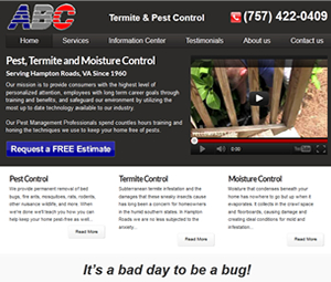 New Website Design for Virginia Exterminator