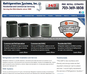 New Virginia HVAC Contractor Website Design