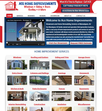 Website Re-design for New Jersey Contractor
