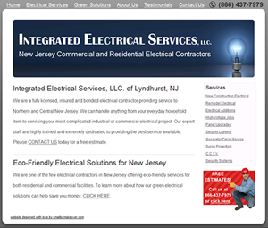New Jersey electrician contractor website design