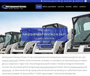 Website Redesign for Rental Company in Nyack, NY