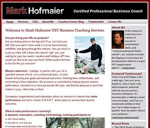 NYC Business Coach Website Design