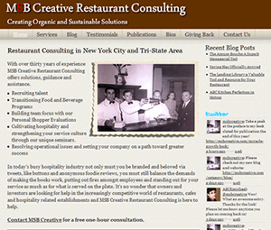 NYC Website Design for Restaurant Consultant