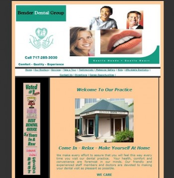 Original Website Design for Pennsylvania Dentist Office