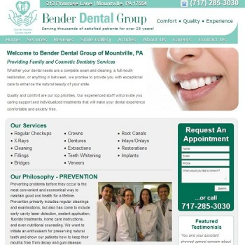 New Website Design for Pennsylvania Dentist Office