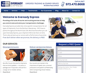 Webpage Design for Passaic, New Jersey Delivery Service