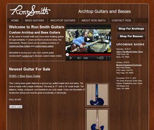 Webpage Design For Pennsylvania Guitar Luthier
