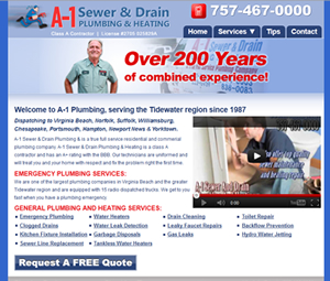 Virginia Plumber Website Design