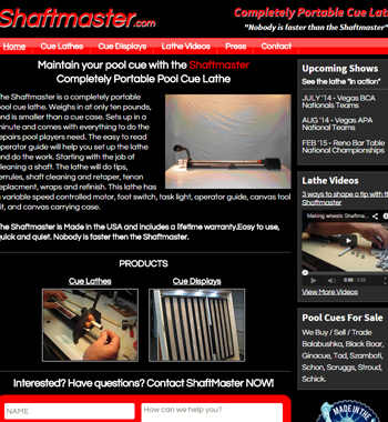 Redesigned Website For Billiards Product