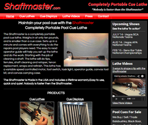Lathe Manufacturer Website Design