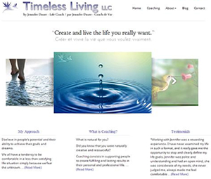 Bi-lingual Website Design For Life Coach
