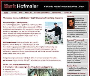 Website Redesign For NYC Business Coach