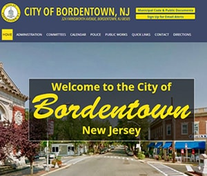 Burlington County, NJ Municipality website