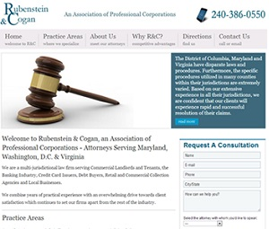 Webpage Design for Real Estate Attorney