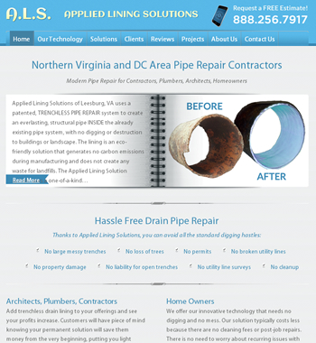 repair contractor website design