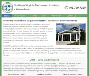 Virginia School Website Redesign