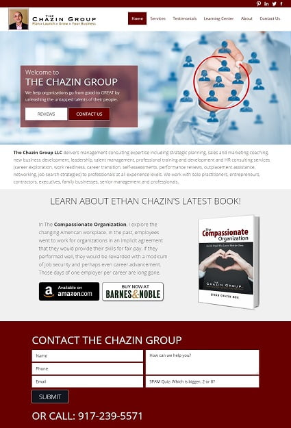 The Chazin Group after redesign