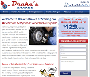 Auto Shop Website Design in Sterling, Virginia