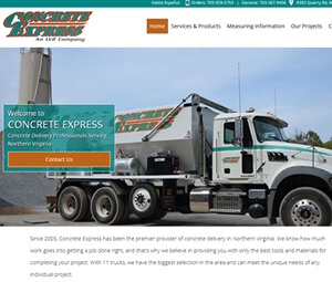 Website Design Concrete Supplier In Manassas, VA