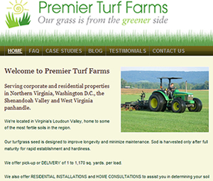 Website Design for Virginia Farm