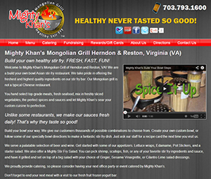 Virginia Restaurant Website Redesign