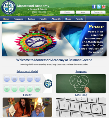Redesigned website for school in Virginia