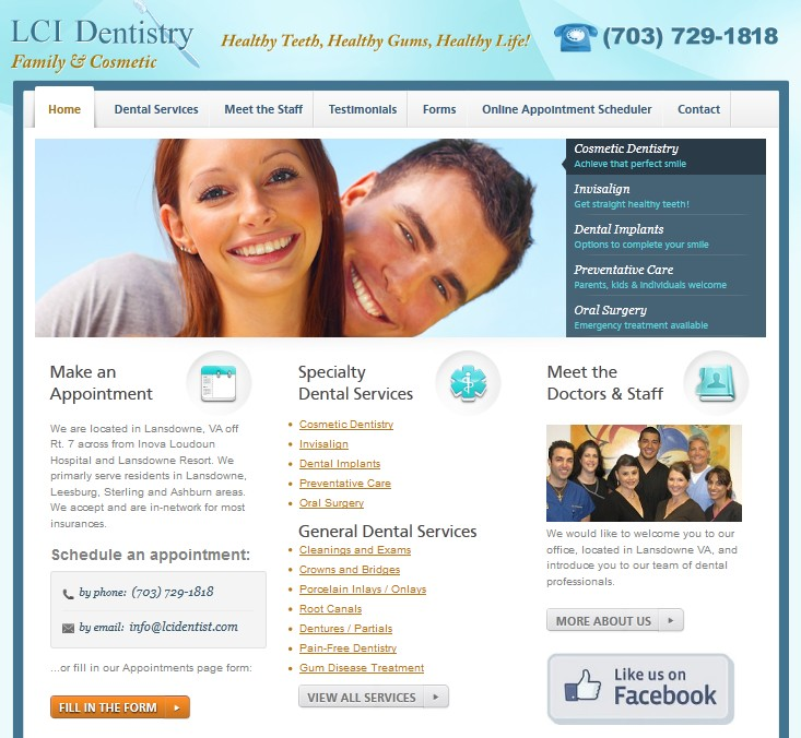 New Website Design for Virginia Dentist