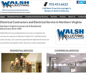 Website Redesign for Northern Virginia Electrical Services Contractor
