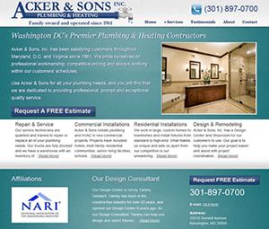 Plumber Website Re-design In Washington DC