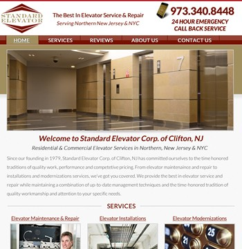 webpage development nj elevator
