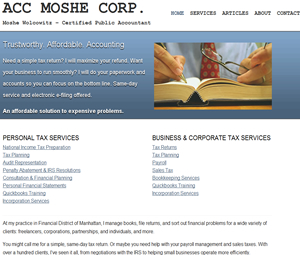 Website Design for NYC Accountant