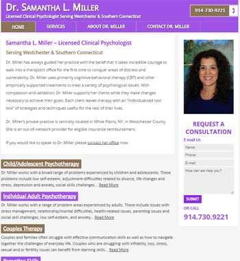 New Website Design for Connecticut Psychologist